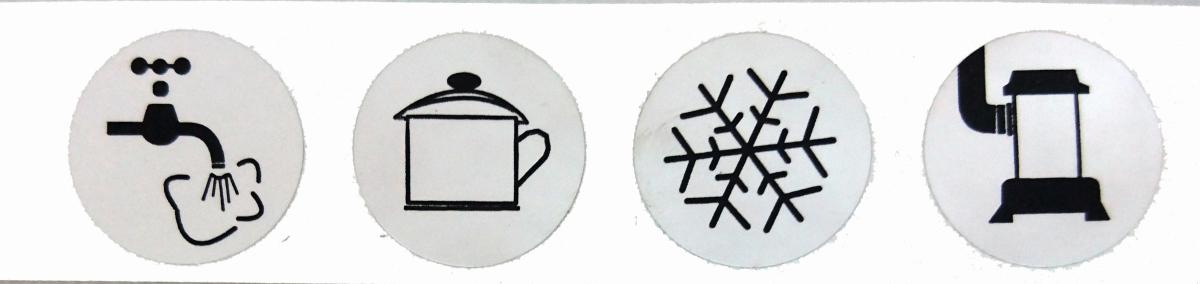 Symbolaufkleber für Verteilerblöcke