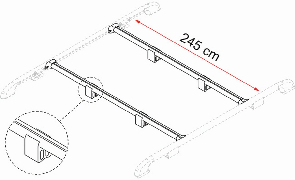 FIAMMA FIXING-BAR Rail Tragestangen 2er Set