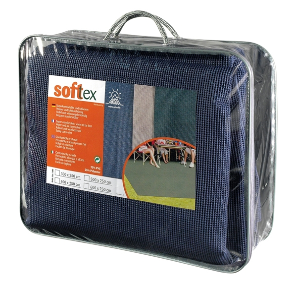 Zeltteppich SOFTTEX blau 250x500 cm