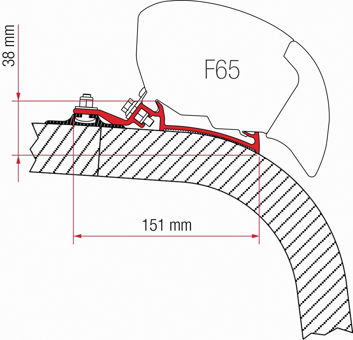 Fiamma F65 Giottiline Adapter