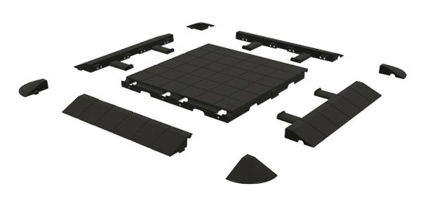 Isabella Floor-Ecke schwarz