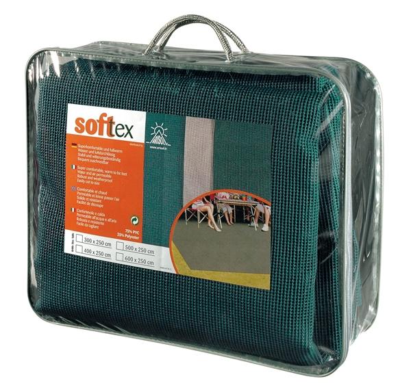 Zeltteppich SOFTTEX grün 250x500 cm