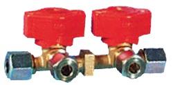 Ventilblock 2 Abgänge 8 mm