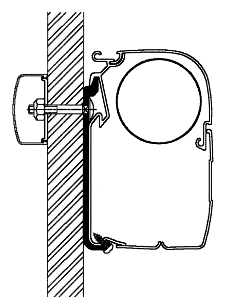 Thule Omnistor Universal Flach-Adapter Serie 5, 600 cm