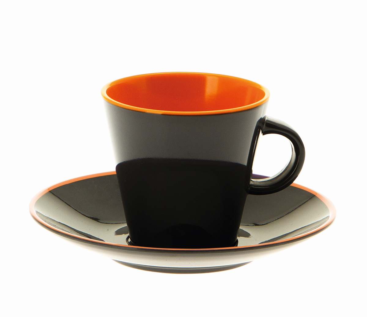 Gimex Espresso-Set grau-orange 4 tlg.