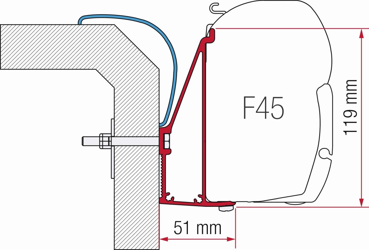 Fiamma Rapido Serie 6 Adapter 350 cm