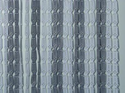 Lamellenvorhang grau-weiß