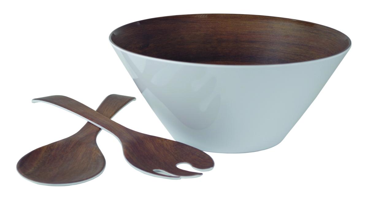 Gimex Salatset Holzdekor Teak 3 tlg.