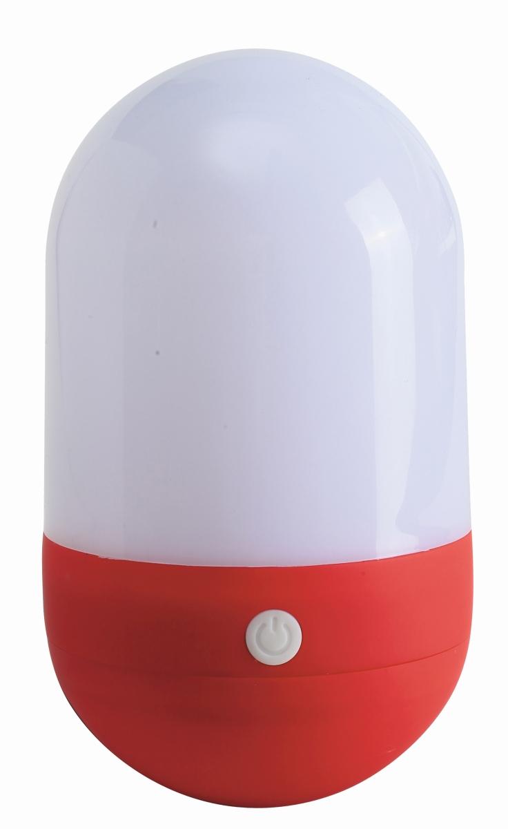 LED-Lampe TUMBLER weiß/rot