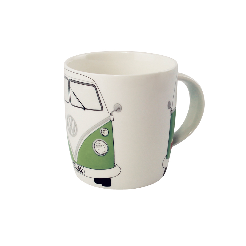 VW Collection Kaffeetasse grün-weiß