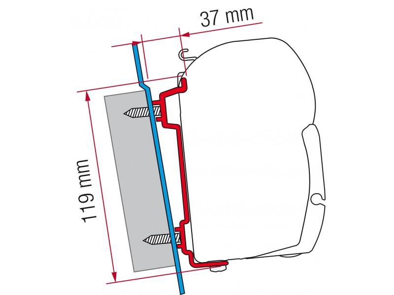 Fiamma Ford Transit H2/H3 Adapter Kit
