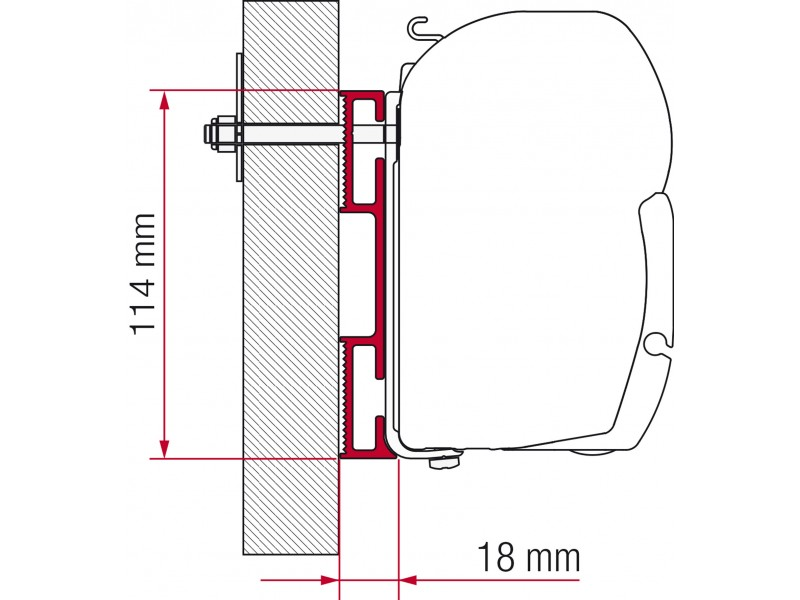 Fiamma D Adapter 8 cm