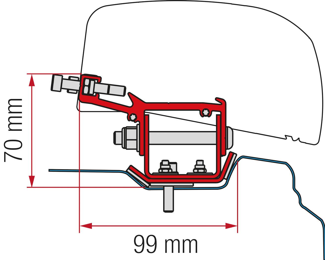 Fiamma Adapter F40 Kit Renault Trafic L2 ab 2014