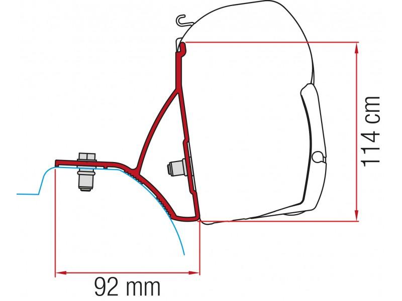 Fiamma Renault Trafic, Opel Vivaro, Nissan Primastar, Fiat Talento Adapter Kit