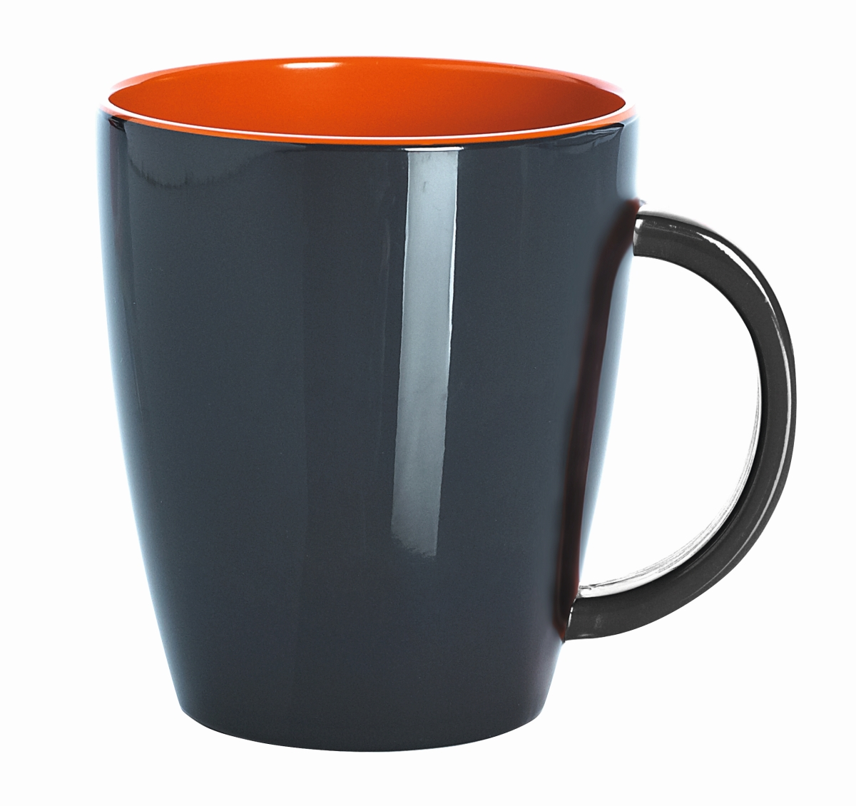 Gimex Henkelbecher grau-orange