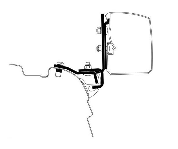 Thule Omnistor 3200 VW T5/T6 Brandrup Rail Adapter