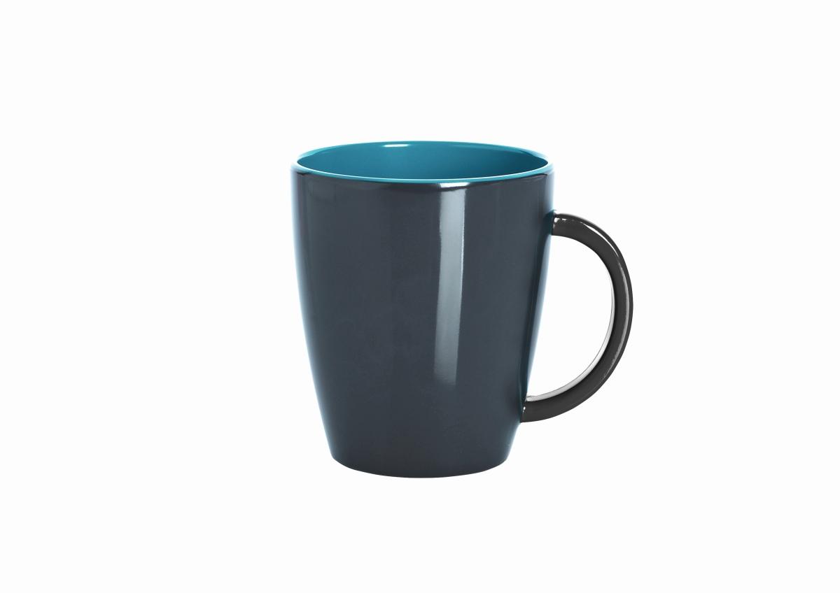 Gimex Henkelbecher grau-blue