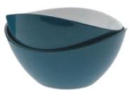 Gimex Salatschale klein 2-farbig, blue
