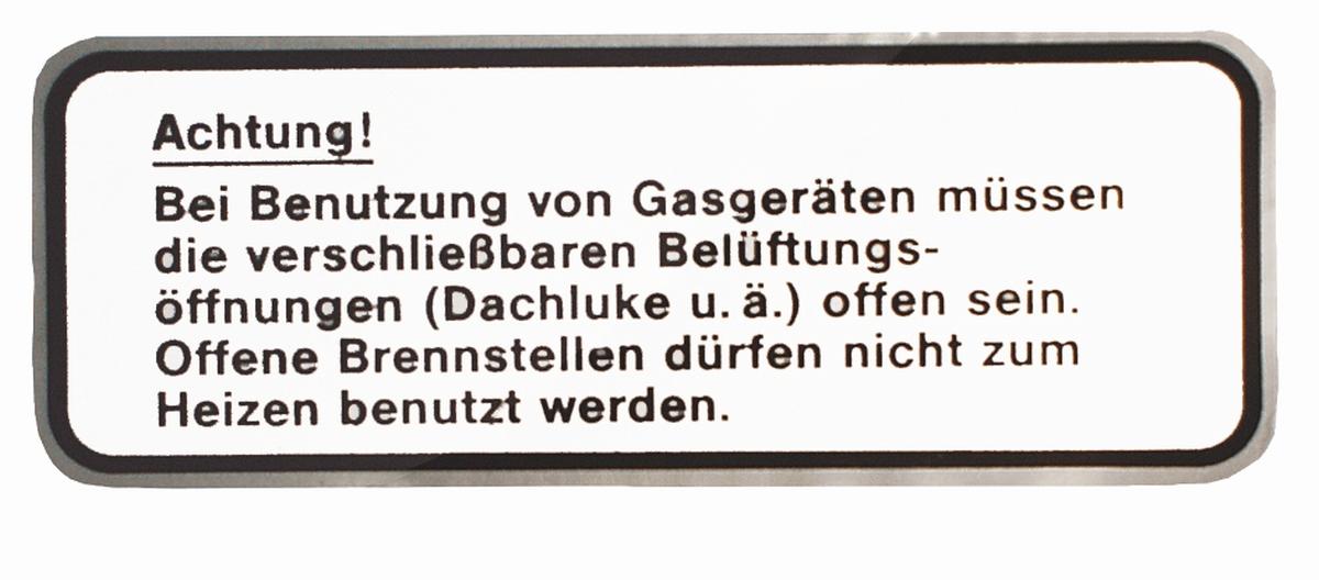 Gas-Hinweisschild