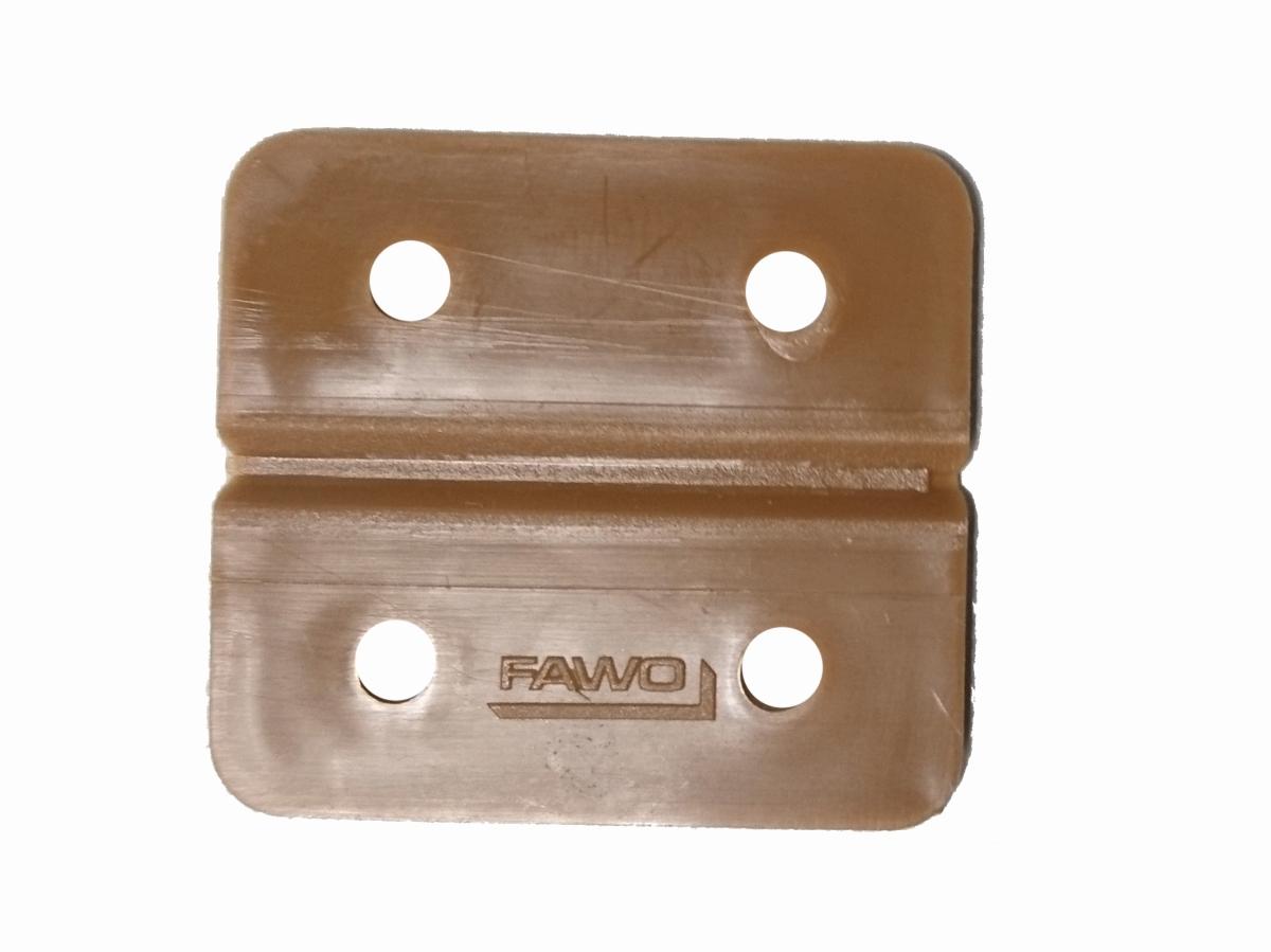 Kunststoff-Scharnier braun 4er-Pack
