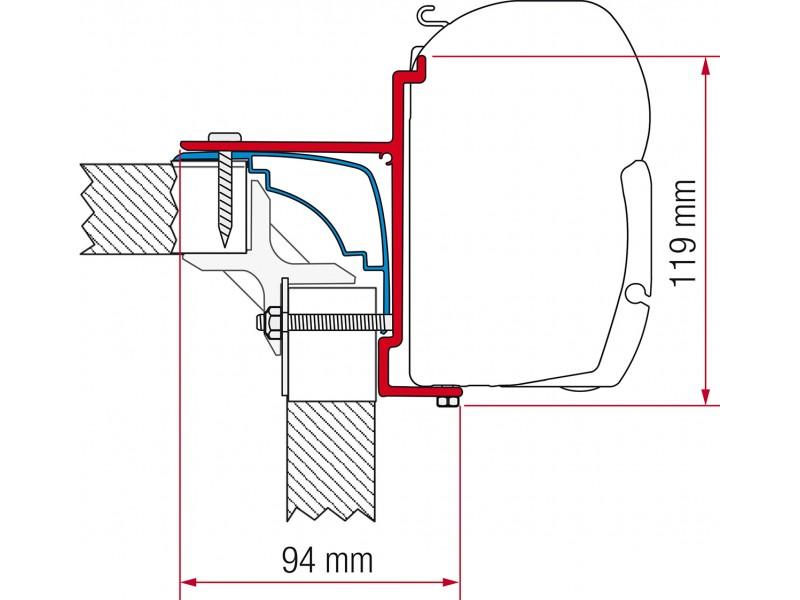 Fiamma Laika Ecovip, Bürstner Hobby Adapter Kit