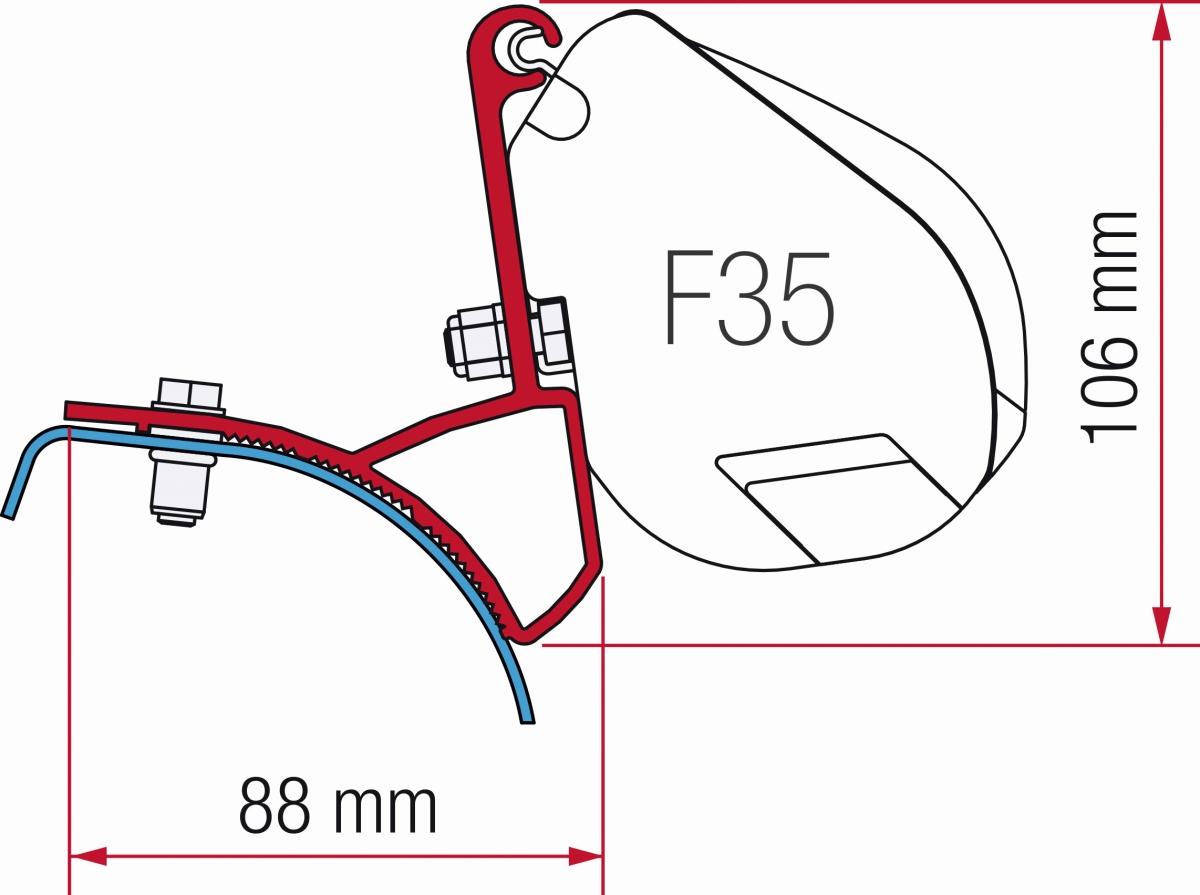 Fiamma Adapter F35 Renault/Opel