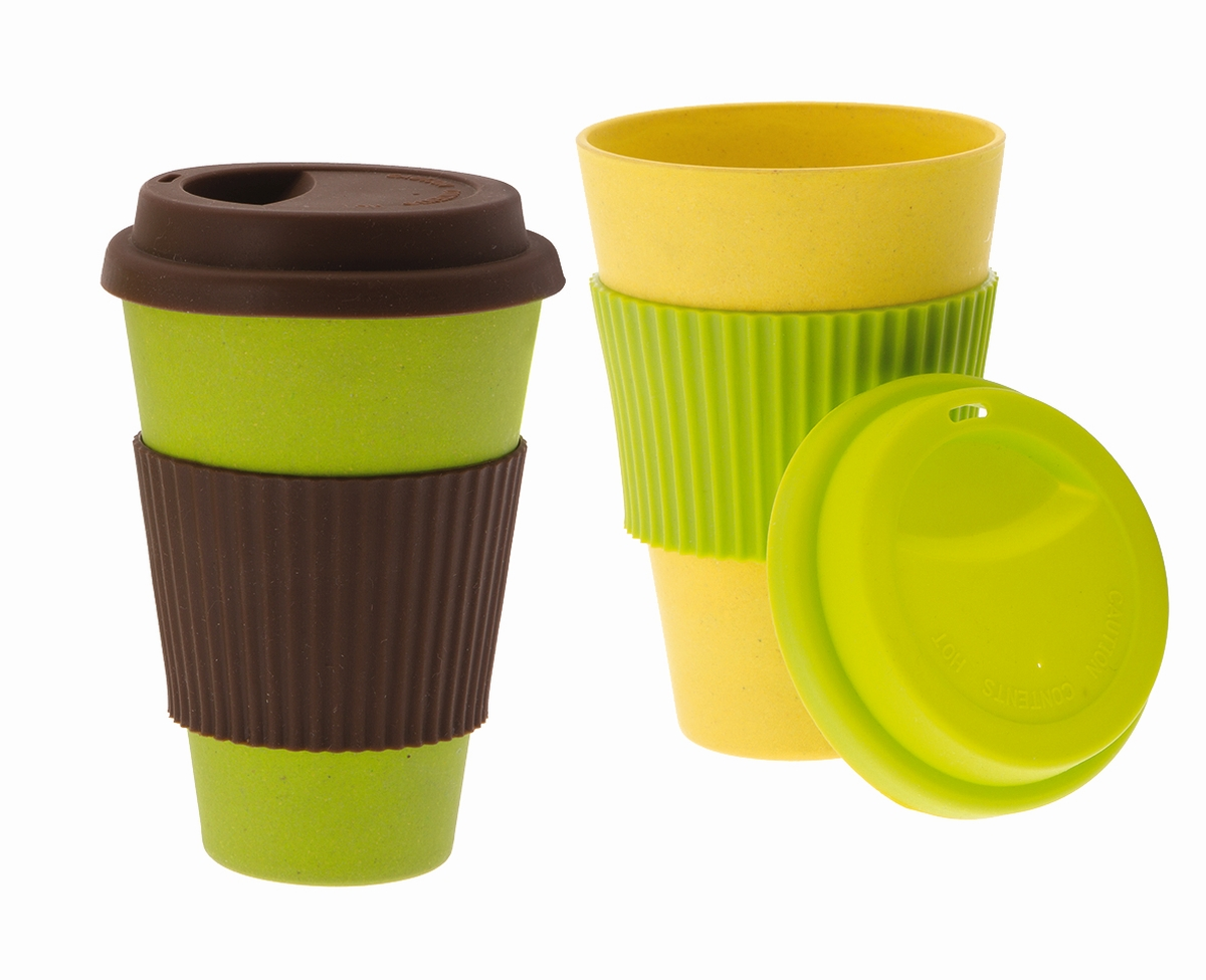 Gimex Bambus To-Go Becher 2er-Set