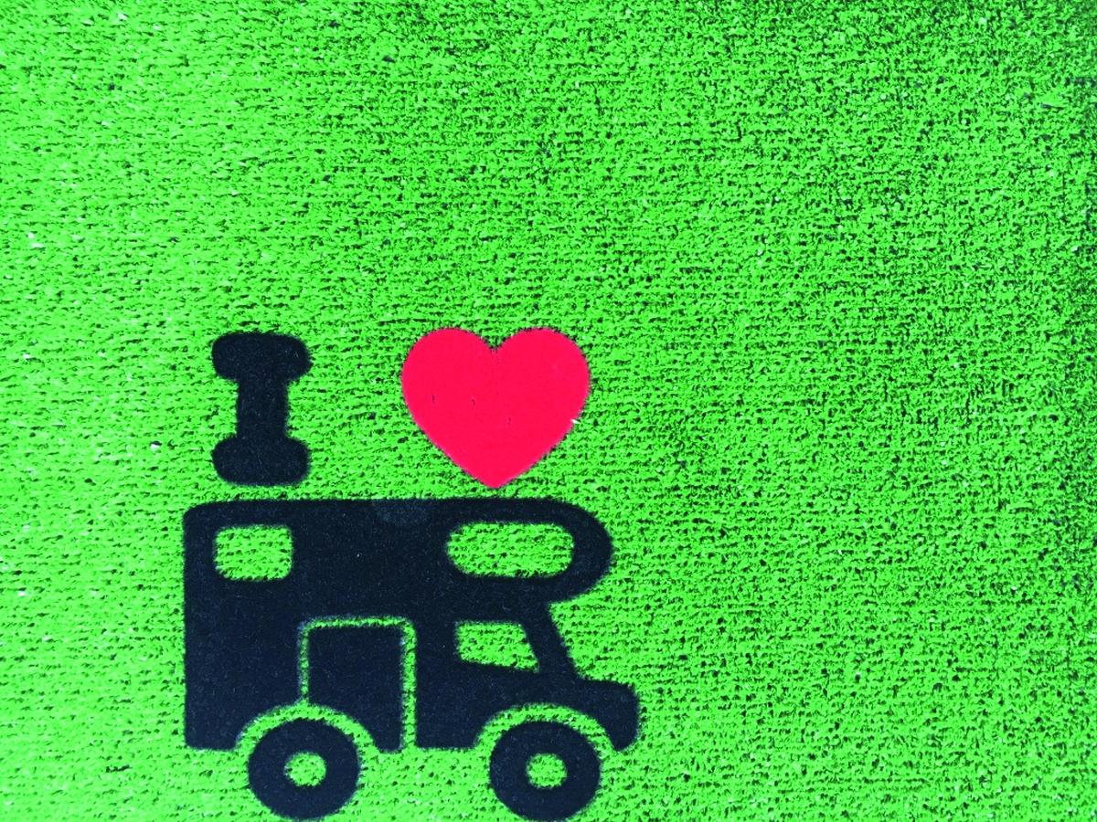 Teppich GREEN FLOCK 40x60 cm Camper