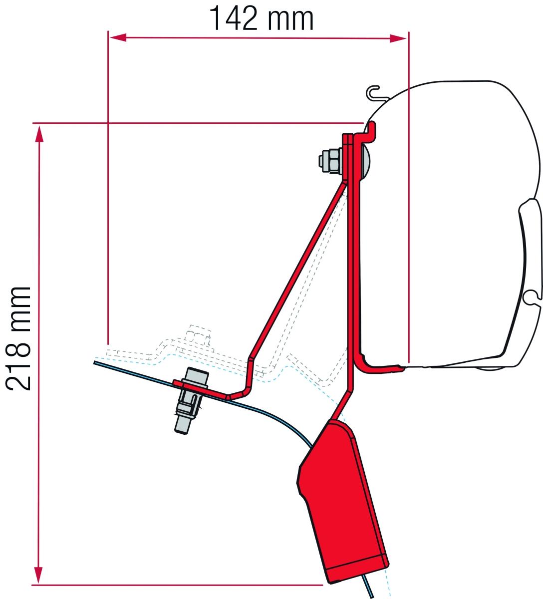 Fiamma Ford Custom Nugget Adapter Kit ab 2919 schwarz