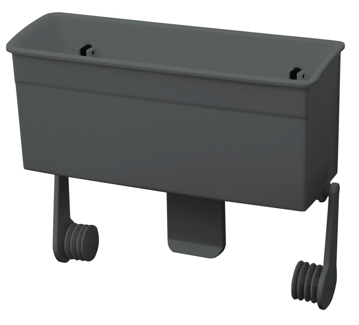 Box mit Papierrollenhalter dunkelgrau