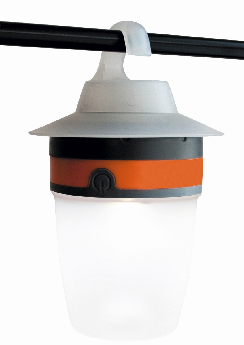 LED-Campingleuchte CAP grau/orange