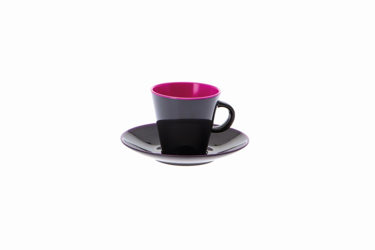 Gimex Espresso-Set grau-blackberry 4 tlg.