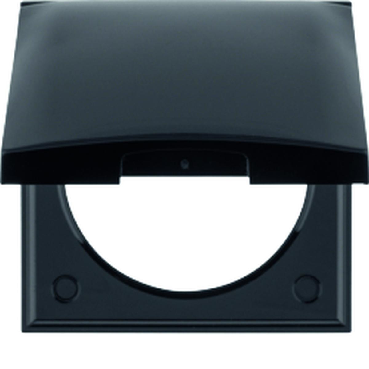 Berker Rahmen mit Deckel INTEGRO schwarz