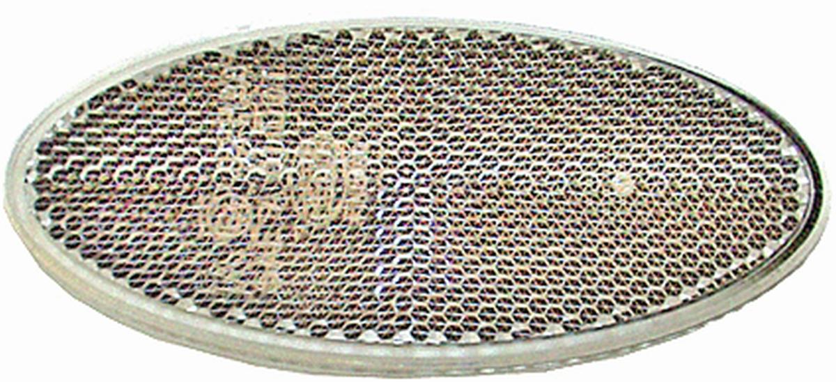 JOKON Rückstrahler oval selbstklebend weiß