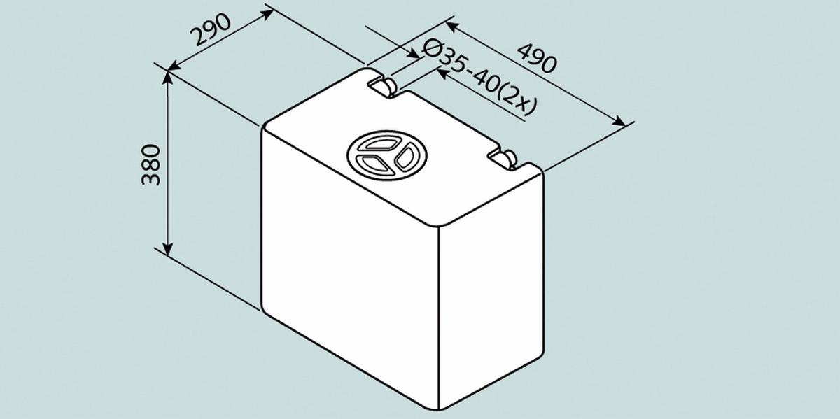 Fusion Wassertank 50 l