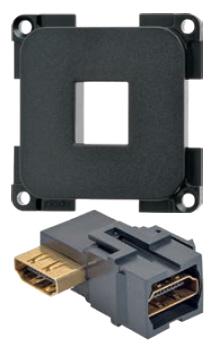 HDMI-Verbinder mit Grundplatte 90° gewinkelt