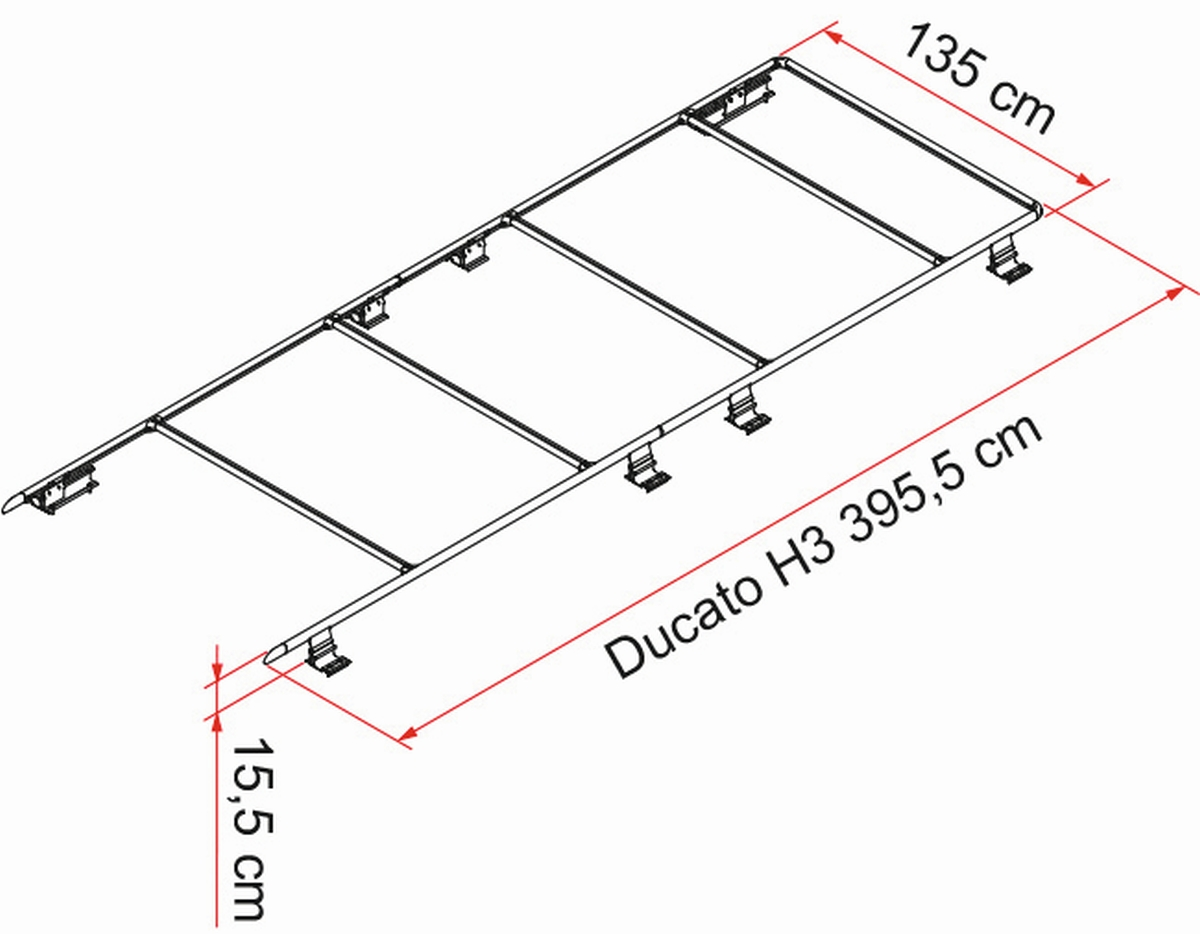 FIAMMA ROOF-RAIL Ducato H3 Dachträgersystem