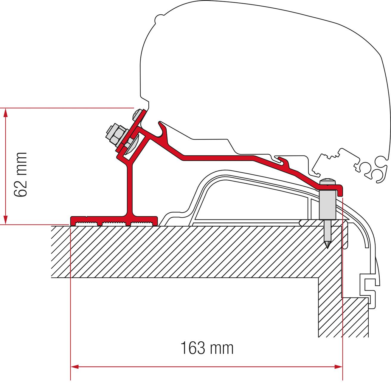 Fiamma F80/F65 Hobby Premium, Ontour Adapter Kit ab 2012
