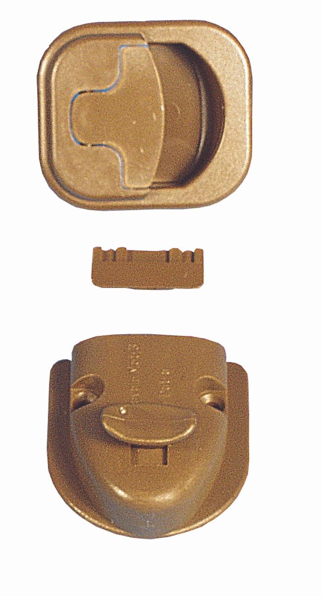 Toilettenraum-Verschluss Caravan-Mot-3-T braun