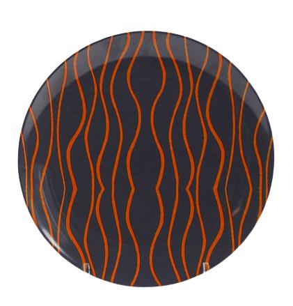 Gimex Dessertteller grau-orange