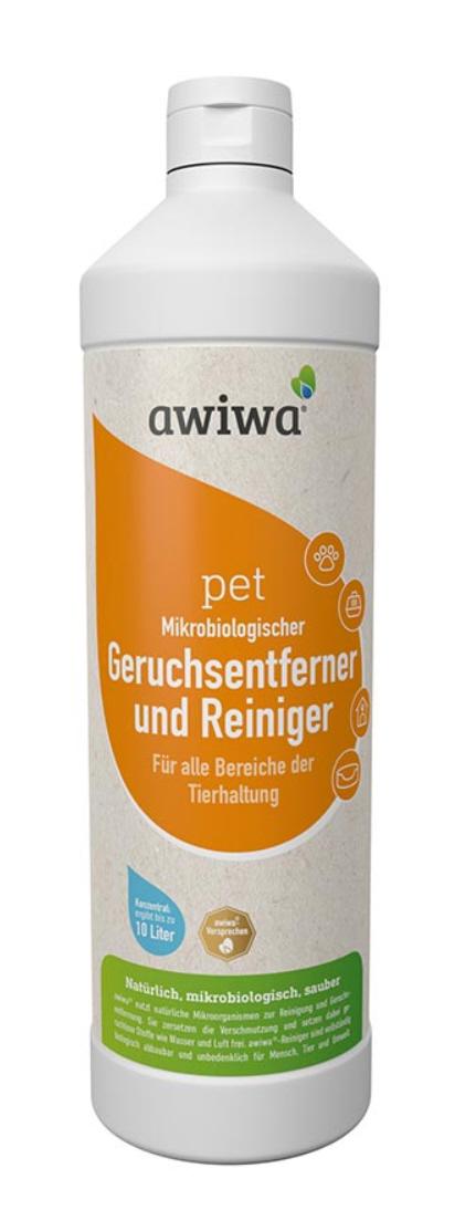 Geruchsentferner und Reiniger awiwa® pet 1l