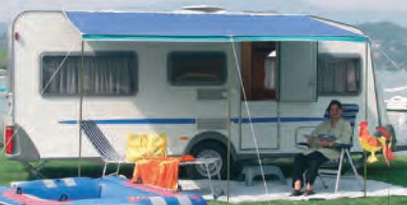 Sonnenvordach FLORENZ 200cm blau/türkis