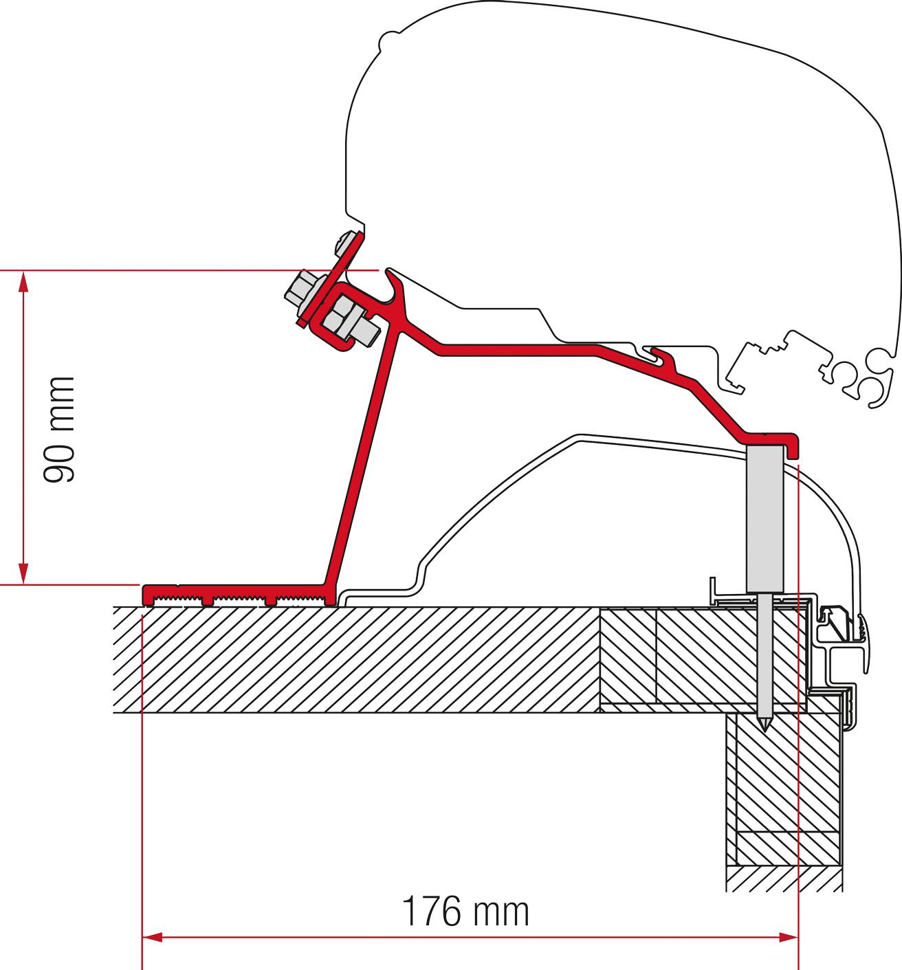 Fiamma F80/F65 Hobby Caravan Adapter Kit ab 2014