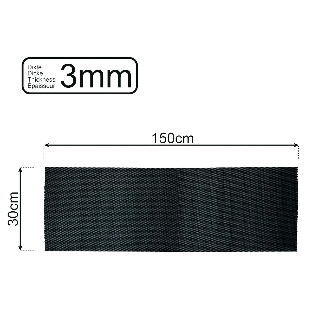 Anti-Rutschmatte schwarz 150x30 cm 3mm