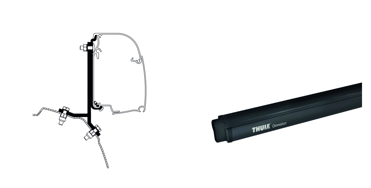 Thule Omnistor 4900 260 cm inkl. Ford Transit/Tourneo Adapter