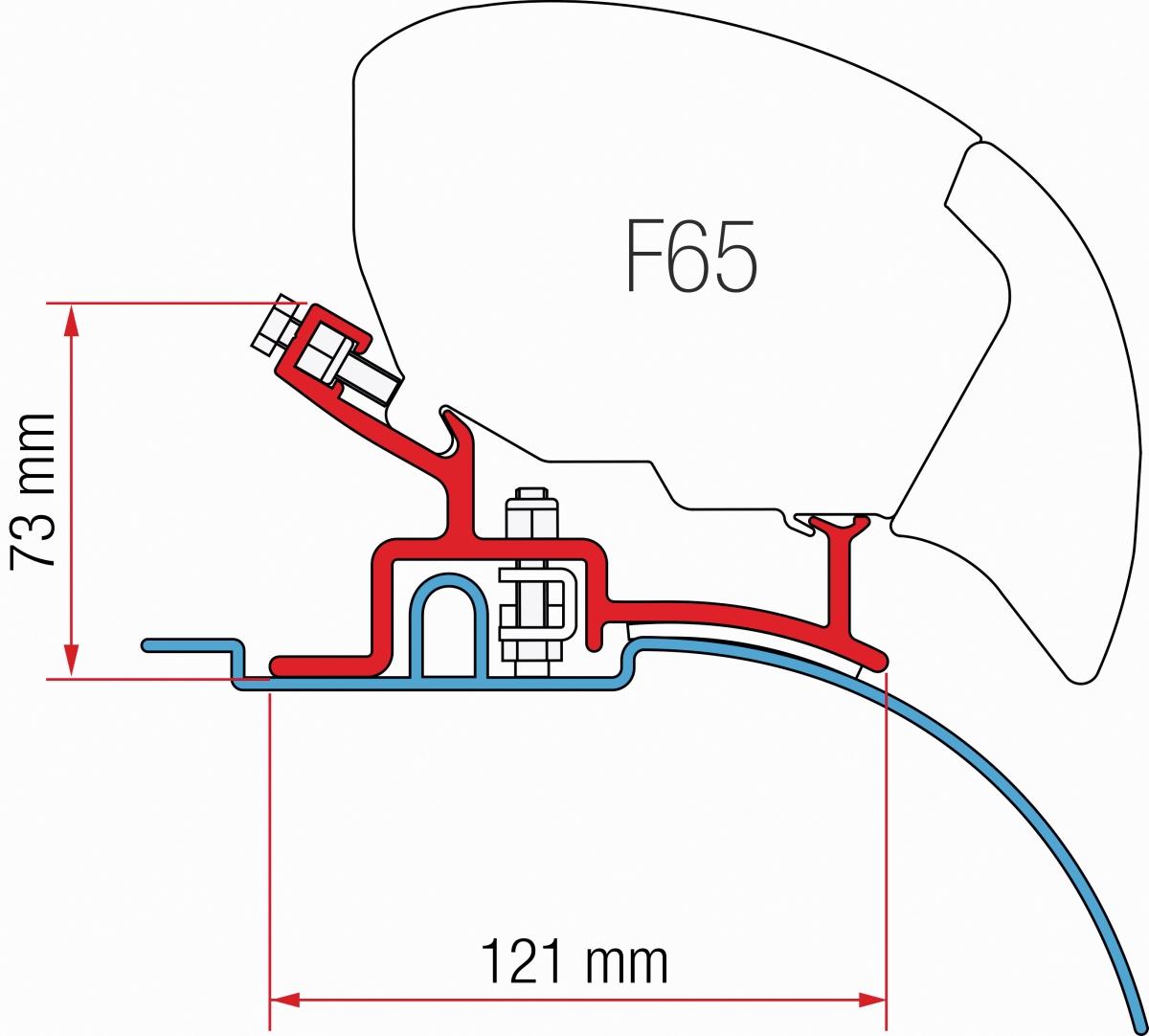 Fiamma F65 Fiat Ducato Adapter bis 2006, hoch