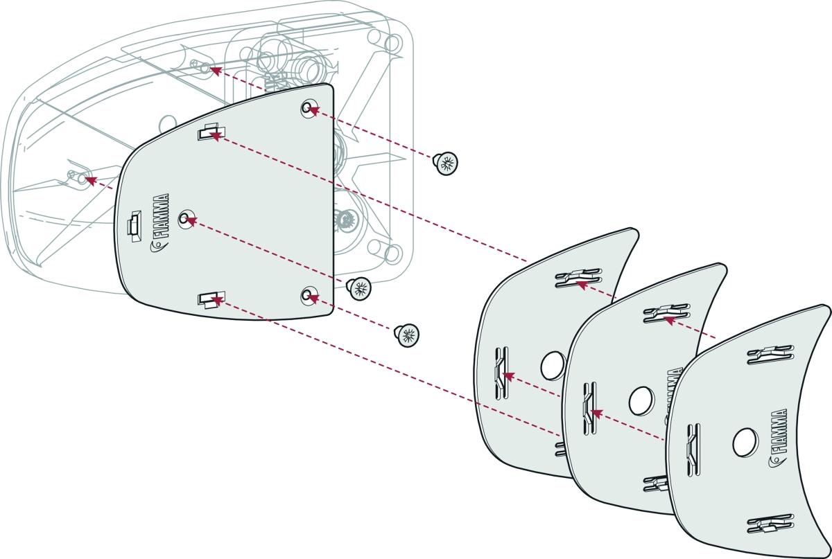 Fiamma Kit Spacer Safe Door >2017