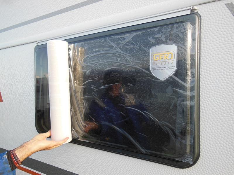 Hindermann Fensterschutzfolie Rolle 50 cm x 30 m