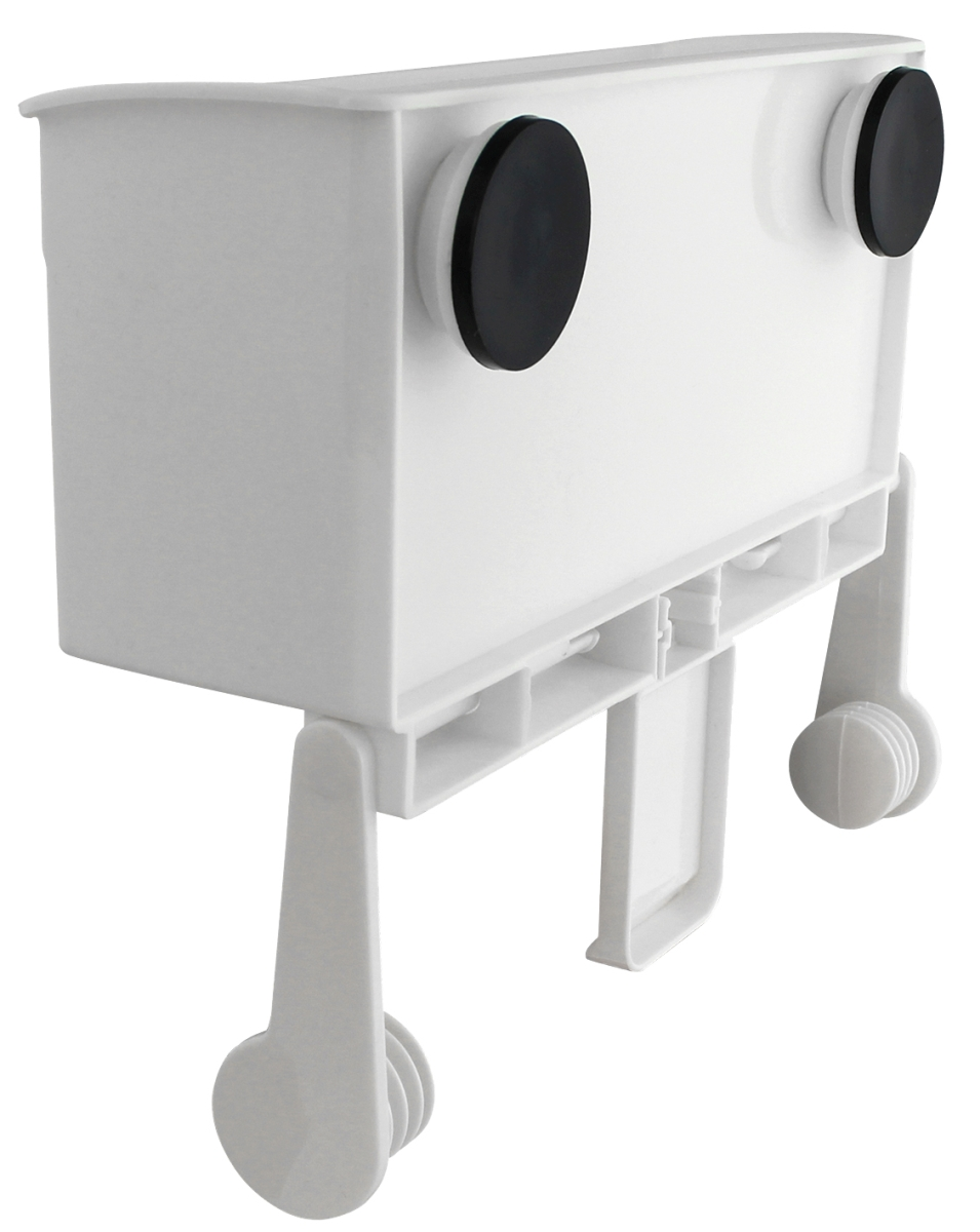 Box mit Papierrollenhalter weiß