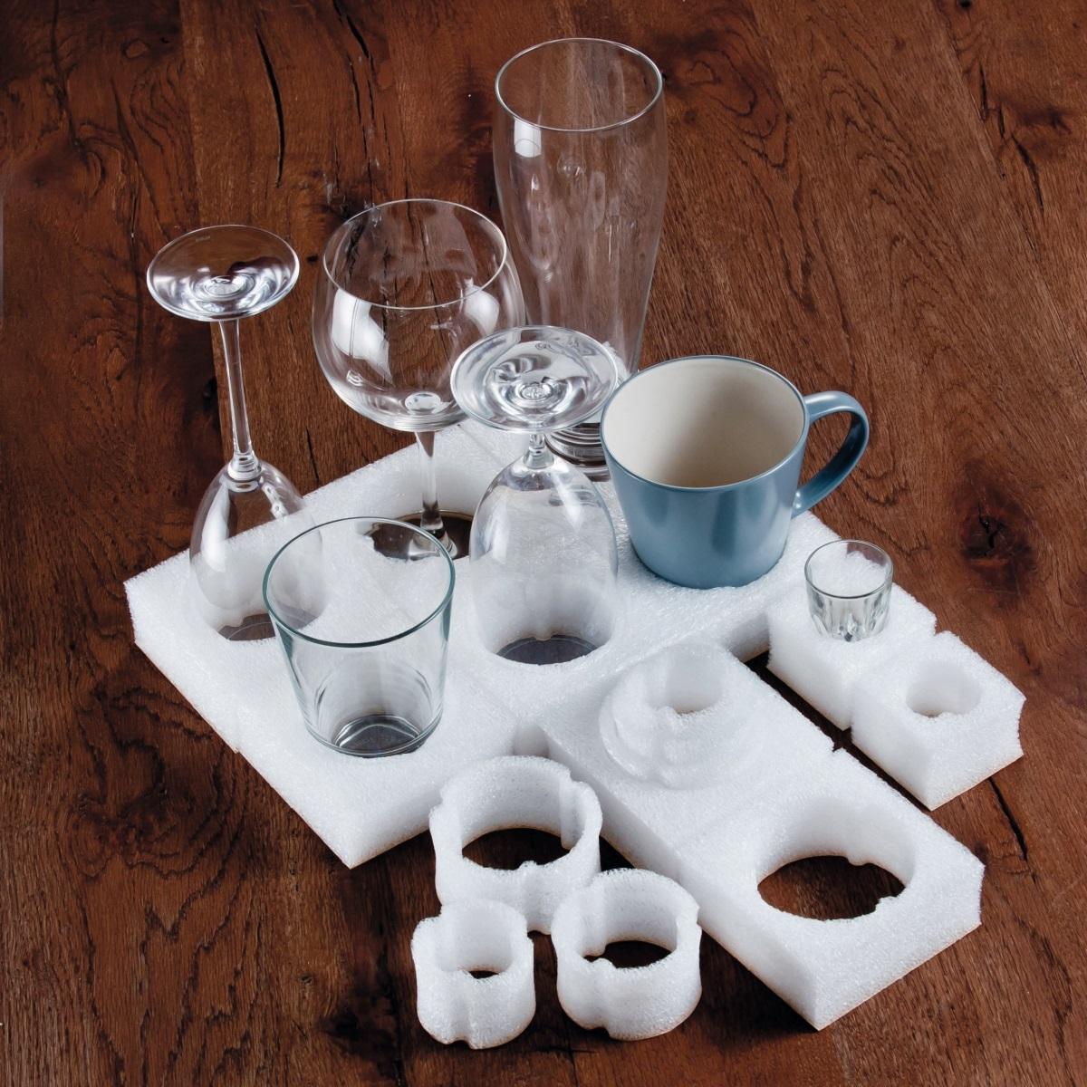 Glassicherungstray